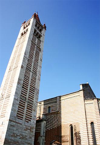 Torre campanile 72 metros San Zeno Maggiore Verona