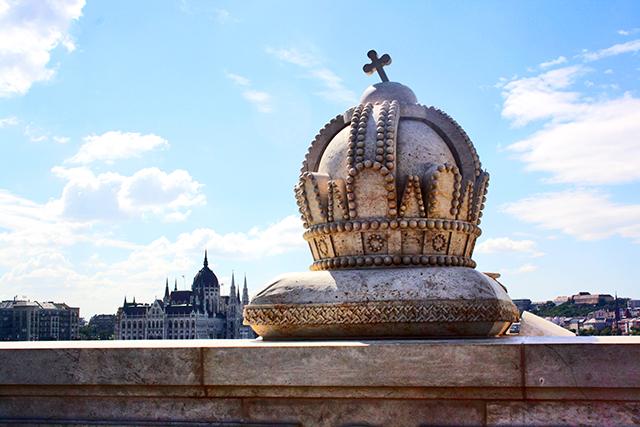 Budapest corona Parlamento Danubio