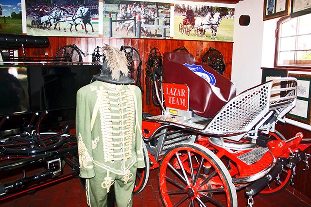 Traje tipico soldado magyar calesa caballos museo hermanos Lazar Puszta Hungría