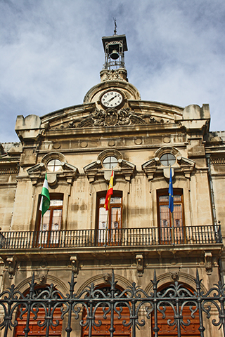 Fachada banderas Diputación Provincial Jaén