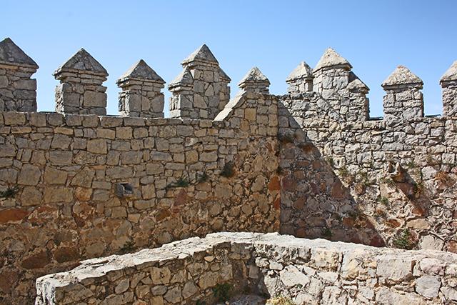 Almenas barbacana defensiva Castillo Almansa