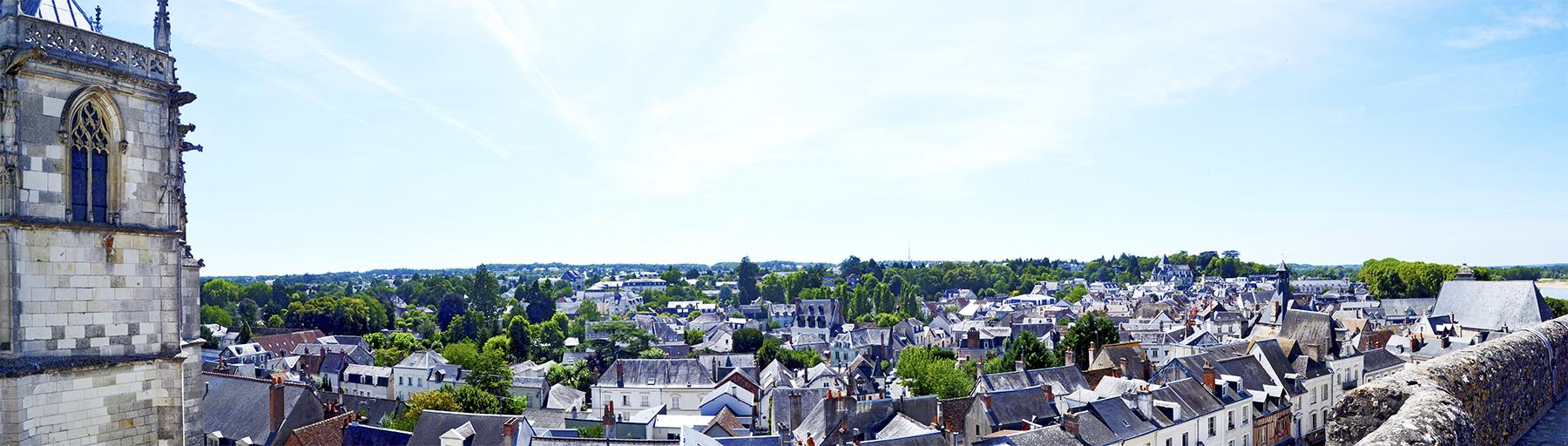 Panorámica desde castillo ciudad Amboise Valle Loira Francia