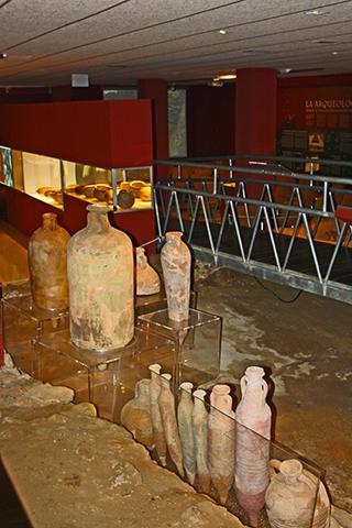 Ánforas restos arqueología Factoría Romana Salazones Puerto Mazarrón Murcia
