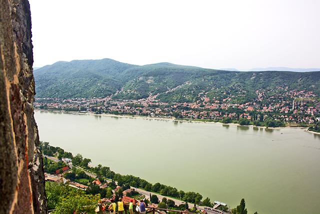 Vistas ciudadela Visegrád