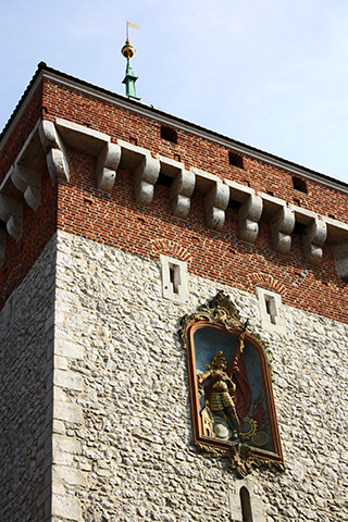 Puerta Florián Florianska muralla Cracovia
