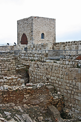 Restos muralla cristiana Castillo Santa Catalina Jaén