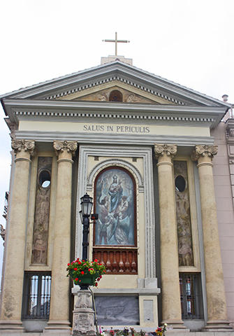 Fachada Templete de la Virgen de los Peligros Murcia