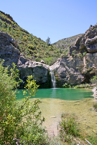 Gorg del Salt cascada Barranco Encantada Valle Gallinera Alicante