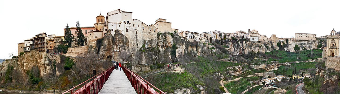 Panorámica puente San Pablo Casas Colgadas Cuenca