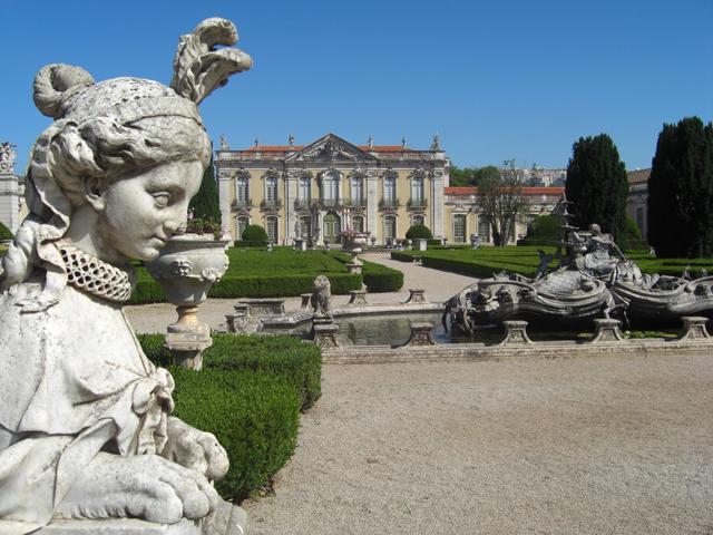 Esfinge jardín colgante Palacio de Queluz