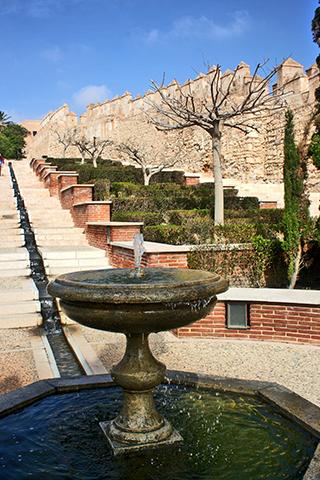 Fuente chorros árabes Cerro San Cristobal Almería