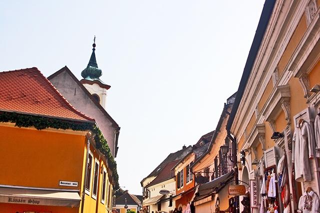 Casas barrocas centro histórico Szentendre Hungría