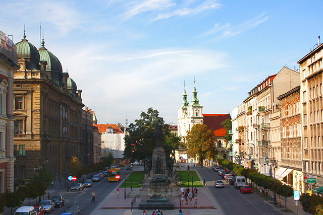 Hotel y plaza Matejko Cracovia