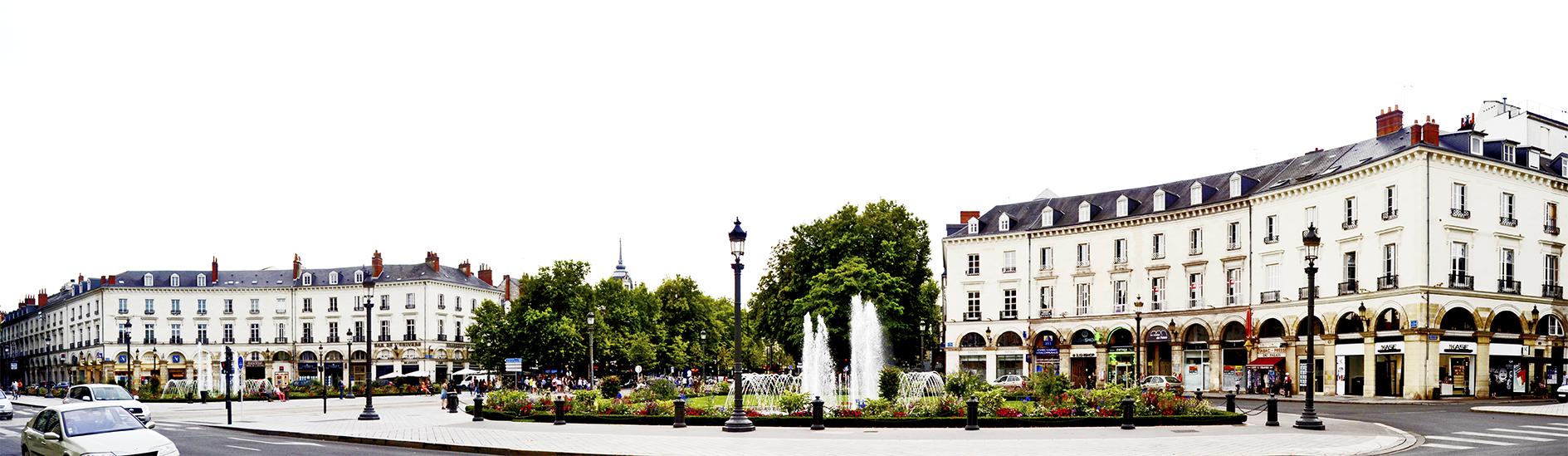 Panorámica Plaza Jean Jaures centro histórico Tours