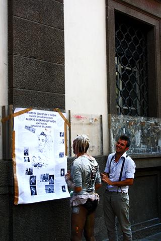 Borregadas universidad Palazzo del Bo Padua