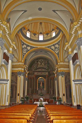 Decoración interior Rococó Iglesia Santa Eulalia Murcia