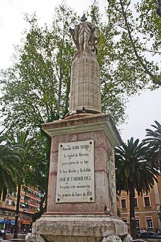 Escultura Jardín Floridablanca Murcia