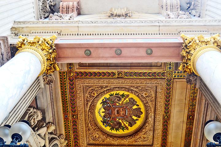 Techos frisos decoración barroca Ópera Garnier París