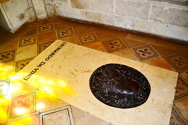 Tumba Leonardo Da Vinci capilla St Hubert castillo Amboise