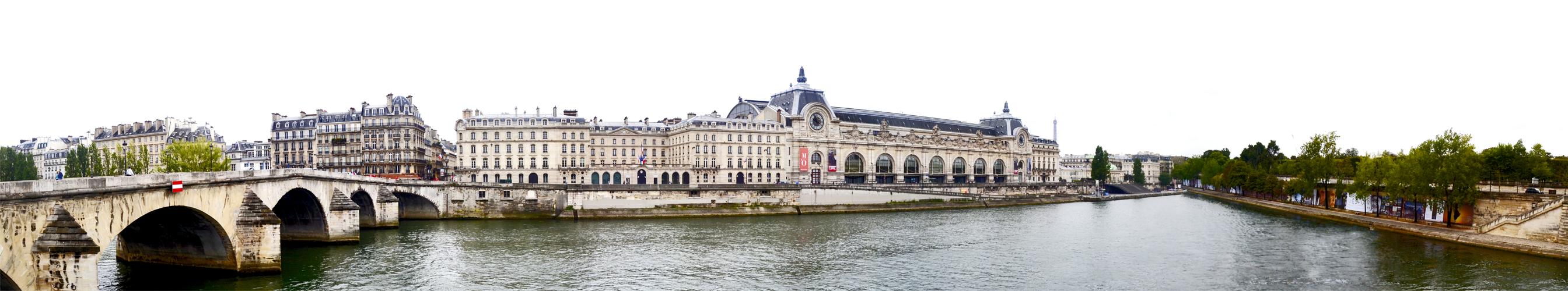 Panorámica puente río Sena Musée d'Orsay París