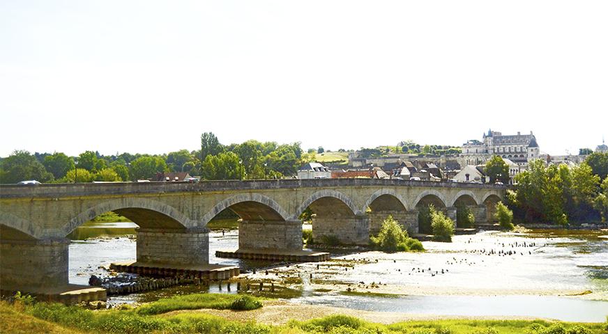 Panorámica puente Wilson río Loira Tours Francia