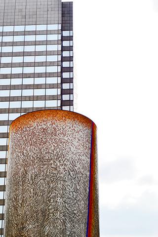 Obra arte los tres árboles Guy-Rachel Grataloup La Défense París
