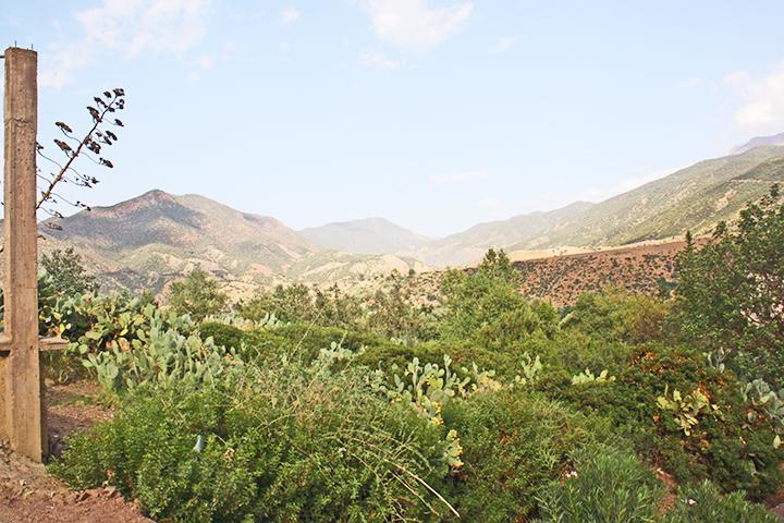 Panorámica montañas Atlas Valle Ourika Marruecos
