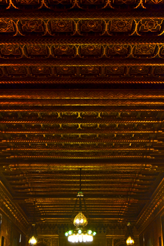 Estuco madera interior pasillo Castillo Peles Sinaia Rumanía
