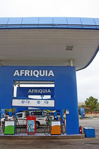 Gasolinera Afriquia carretera Ouzoud Marruecos