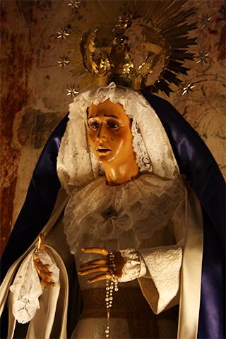 Virgen relicario Catedral Natividad de Nuestra Señora Baeza