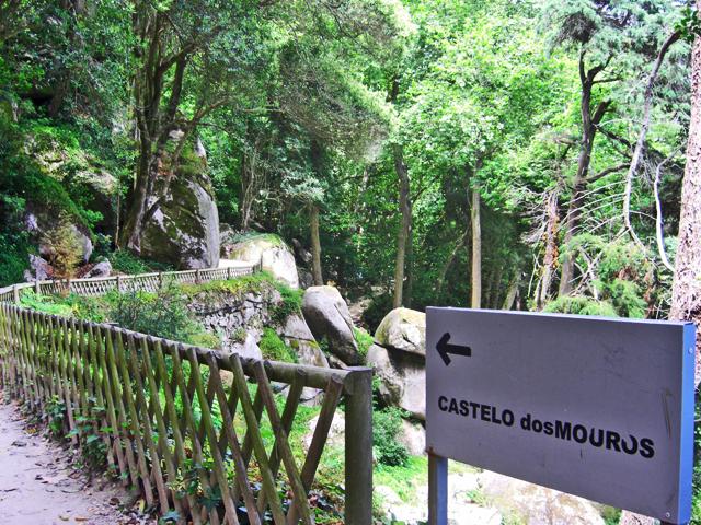 Señal sendero Castelo dos Mouros Sierra de Sintra