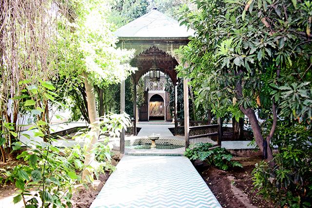 Jardines plantas vegetación estancia fuente árabe Dar Si Said Marrakech