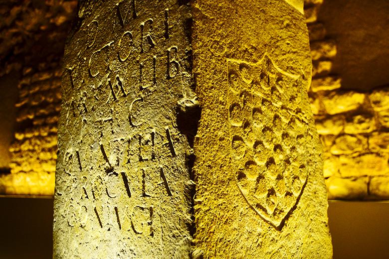 Piedra letras romanas grabadas Museo Arqueológico Nacional Tarragona