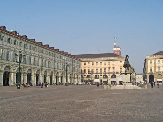 Edificios Plaza San Carlo Turín