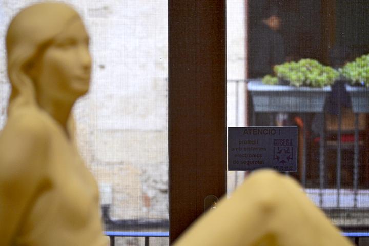 Escultura mujer perfil Museo Nacional Arqueológico Tarragona
