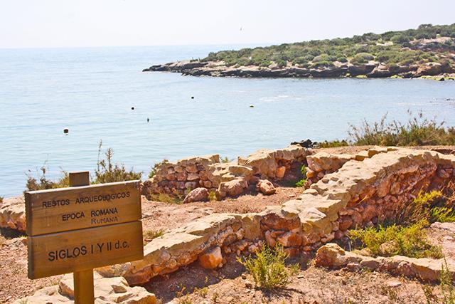 Ruinas restos romanos arqueología playas Puerto Mazarrón Murcia