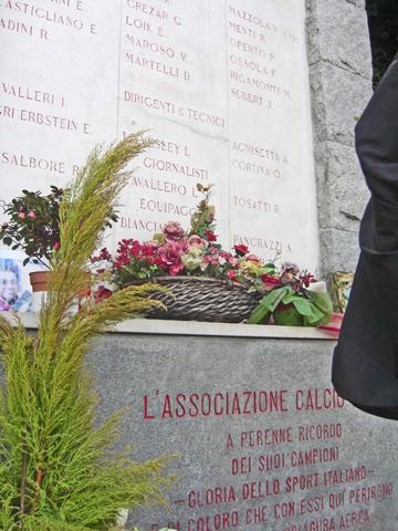 Placa homenaje fallecidos Torino F.C. Basílica de Superga