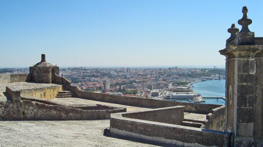 Vista general Castillo de San Felipe Setúbal