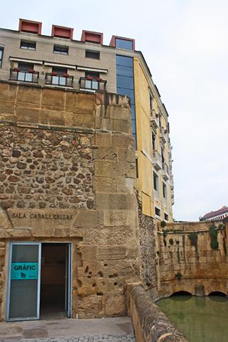 Muralla sala anexa Museo Hidráulico Murcia