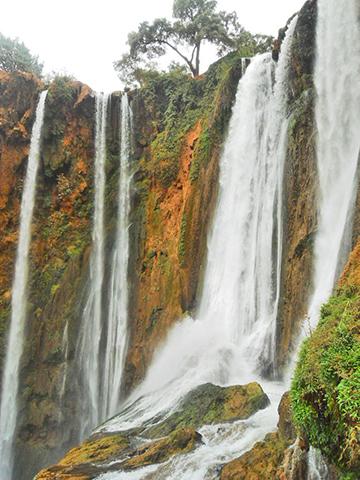 Vista cascadas Ouzoud Marruecos