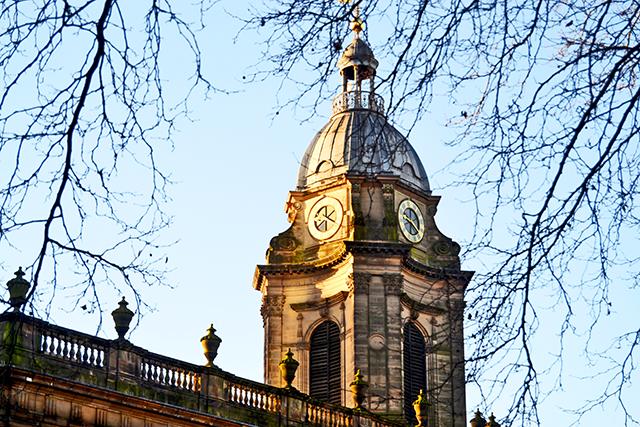 Torre reloj Catedral St Philips Birmingham Inglaterra
