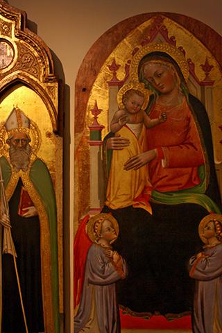Cuadro virgen María niño Pinacoteca Nacional Bolonia