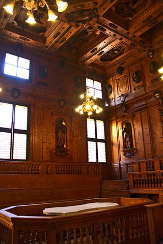 Sala anatomía siglo XVII Universidad Bolonia