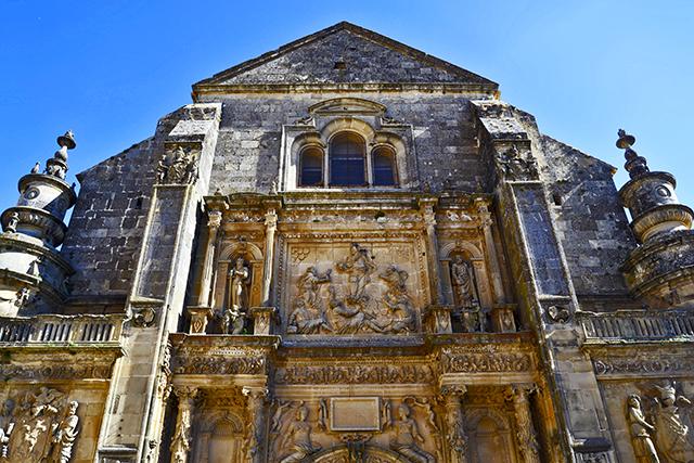 Fachada gótico flamígero piedra Iglesia El Salvador Úbeda Jaén