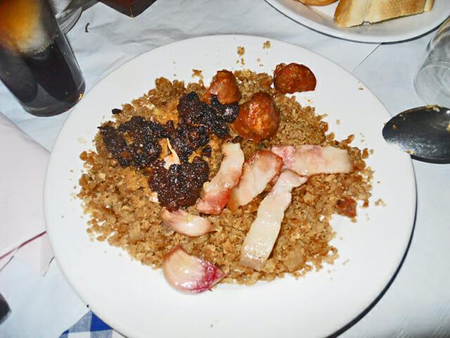 Plato migas Restaurante La Manchega Jaén