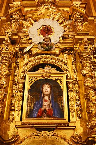 Altar mayor imagen virgen de las Batallas Cuenca