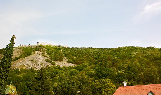 Ruinas ciudadela Visegrád Hungría