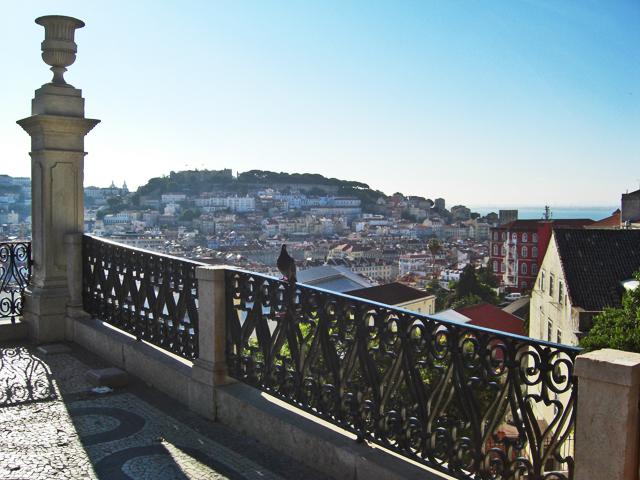 Vistas Lisboa Castelo de Sao Jorge Miradouro de Sao Pedro de Alcantara