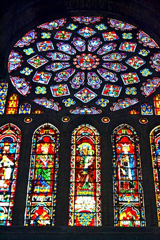 Vidrieras góticas Catedral de Chartres Francia