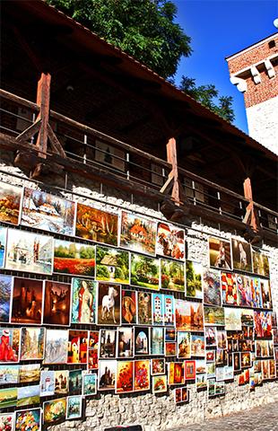 Mercado cuadros muralla Cracovia